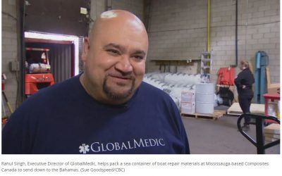 Global Medic and Composites Canada Team Up For Disaster Relief In The Bahamas